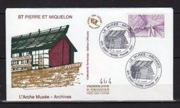Saint-Pierre Et Miquelon Lettre Du Premier 6 X 1999 L'Arche Musée-Archive Timbre 704  Lot 24-140 - FDC