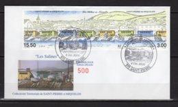 Saint-Pierre Et Miquelon Lettre Du Premier Jour 4 Oct. 2000Les Salines Timbres 724-725 Lot 24-142 - FDC