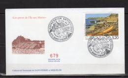 Saint-Pierre Et Miquelon Lettre Premier Jour Du 10-2-99 Les Graves De L'île-aux-marins Timbre 687 Lot 24-150 - FDC