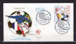 Saint-Pierre Et Miquelon Lettre Premier Jour Du 21-10-98 Coupe Du Monde Football 1998 Timbre 683 Lot 24-154 - FDC