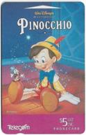 New Zealand - Advertising Cards - Pinocchio '95 - With Jiminy Cricket, 1995, 5$, 14.500ex, Used - Nueva Zelanda