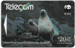 New Zealand - General Cards - Hooker's Sea Lion (Reverse C), 141DO, 1993, Used - Neuseeland
