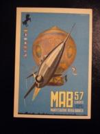 1957  MAB 57  MANIFESTAZIONE AEREA BARACCA  LINATE   CARTOLINA PUBBLICITARIA - Tentoonstellingen