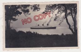 Au Plus Rapide Paquebot Normandie Départ Aux Essais 5 Mai 1935 - Barche