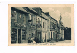 27 - CONTEVILLE. Café Epicerie M.GIFFARD. 2 SCANS. - Frankrijk