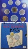 SAN MARINO DIVISIONALE ANNO 1993 10 VALORI FDC SET ZECCA - San Marino