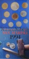 SAN MARINO DIVISIONALE ANNO 1994 10 VALORI FDC SET ZECCA - San Marino