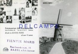 DOEL - Beveren (O.Vl.) - Molen/moulin - Reclamekaartje Met Kalender 1969 Voor Fotokaarten WN In Stekene Met Scheldemolen - Non Classés