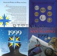SAN MARINO DIVISIONALE ANNO 1999 8 VALORI FDC SET ZECCA - San Marino