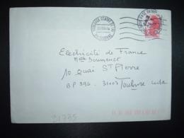 LETTRE TP LIBERTE 2,00 OBL.MEC. + OBL.23-1 1984 31 TOULOUSE GARE ENTREPOT HTE GARONNE - Railway Post