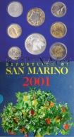 SAN MARINO DIVISIONALE ANNO 2001 8 VALORI FDC SET ZECCA - San Marino