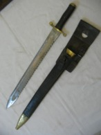 Glaive De Pionnier - Dents De Scie,old Sword , Sabre XIX - Knives/Swords