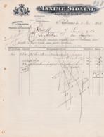 BORDEAUX MAXIME SIDAINE IMPRIMEUR GRAVEUR ETIQUETTES TRAVAUX EN COULEURS ANNEE 1911 - Francia