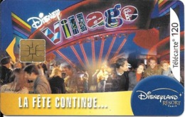 TC-PUBLIC-120U-F1299-SO3-08/03-DISNEY LE VILLAGE-UTILISE-TBE - Frankrijk