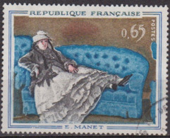 Tableaux, Peinture - FRANCE - 1962 - Manet: Madame Manet Au Canapé Bleu - N° 1364 - Francia