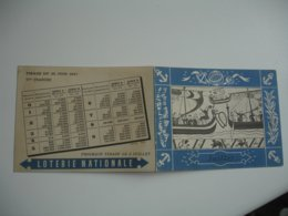Lot 2 Calendrier  1941 Et 1947 Loterie Nationale - Calendriers