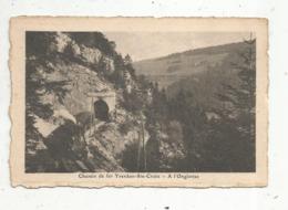 Cp , Chemin De Fer YVERDON SAINTE CROIX , Train, SUISSE , VD ,  à L'ONGLETTAZ ,  Vierge - Trains