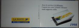 Petit Calendrier De Poche 1998 La Poste  Service C.Cépargne - Format Carte Bleue Double - Calendriers
