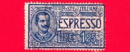 ITALIA - REGNO - Usato - 1925-1926 - Espressi - Effigie Di Vittorio Emanuele III Entro Un Ovale - 1,25 L. - 1900-44 Victor Emmanuel III.