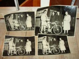 Lot 4 Belles Photos Originales Du Cycliste RAPHAEL GEMINIANI TOUR DE FRANCE 1958 - Cycling
