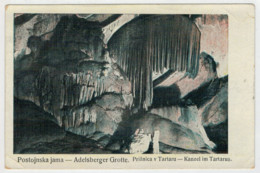 C.P.PICCOLA   POSTOJNSKA JAMA    ADELSBERGER   GROTTE           2  SCAN   (VIAGGIATA) - Jugoslavia