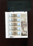 Belgie 2003 Nr 3170/71 Russia JOINT ISSUE Clocks St Petersburg Mechelen Volledig Vel Plaatnummer 3 - Hojas