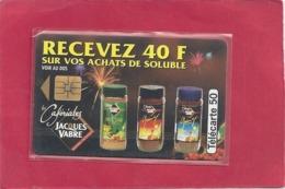 F 469A  .  CAFERIALES J. VABRE  -  05/1994 . 50 U . SO3 .  N° SUR 2 LIGNES . . COTE = 28 € - Frankrijk
