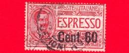 ITALIA - REGNO - Usato - 1922 - Espresso Tipo Floreale Soprastampati - Effigie Di Vittorio Emanuele III -  60 C. Su 50 C - 1900-44 Victor Emmanuel III.