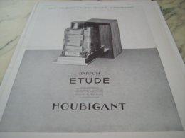 ANCIENNE PUBLICITE PARFUM ETUDE DE  HOUBIGANT 1931 - Parfum & Cosmetica