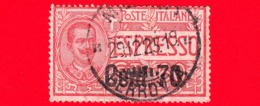 ITALIA - Usato - 1925 - Espressi Soprastampati - Effigie Di Vittorio Emanuele III Entro Un Ovale - 70 C. Su 60 C. - 1900-44 Victor Emmanuel III.