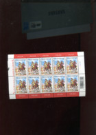 Belgie 2003 Nr 3173 BD Comics Strips Jeugdfilatelie Koene Ridder Knight Horse Volledig Vel Plaatnummer 4 - Panes