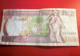 BANK CENTRALI TA MALTA MALTE 2 LIRI L.1967 Monnaies & Billets  Billet Malte 2 LIRAS DEL AÑO 1967 (BANKNOTE) - Malta