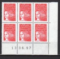 France Yvert N° 3083coin Daté Du 13.06.97 Marianne Du 14 Juillet Lot 24-182 - 1990-1999