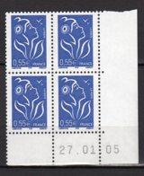 France Yvert N° 3755 Coin Daté Du 27.01.05 Marianne De Lamouche Lot 24-184 - Ecken (Datum)