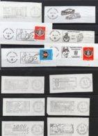 MONACO - 73 FLAMMES SUR FRAGMENT - Machine Stamps (ATM)