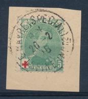 "BELGIE - OBP Nr 129 (op Fragment) - Cachet ""LE HAVRE (SPECIAL)"" - (ref. ST 1220) - 1914-1915 Croix-Rouge"