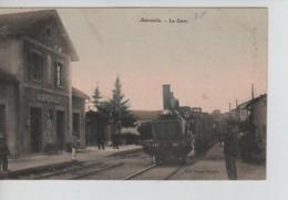 CP65/ France CP Aubréville La Gare Locomotive à L'arrêt - Animée - Voyageurs En Attente De Prendre Place Neuve - Verdun