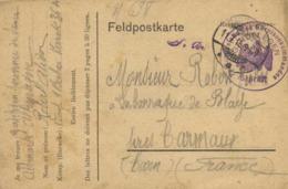 Feldpostkarte De Altmark Barak 36 A Vers La Barraque De Blaye Près Carmaux + Cachets Prisonniers - Militaria