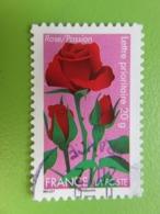"""Timbre France YT 669 AA - Flore - """"Dites-le Avec Des Fleurs"""" - La Rose Symbolise La Passion - 2012 - Cachet Rond - France"""
