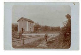 D698 Soldats Allemands Gardant Un Passage à Niveau A Localiser - France