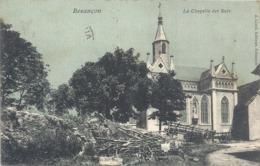 BESANCON  -  LA CHAPELLE DES BUIS ( + 1 Coin De Friche Agricole !!  ) CARTE COLORISE AFFR LE 9-7-1906 AU VERSO .2 SCANES - Besancon