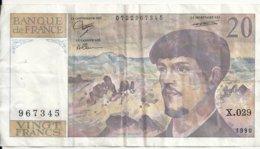 FRANCE 20 FRANCS 1990 VF P 151 D - 1962-1997 ''Francs''