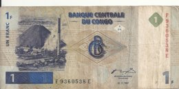 CONGO 1 FRANC 1997 VG+ P 85 - Zonder Classificatie