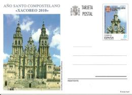 2010-E.P.-ED. 184 Año Santo Compostelano Xacobeo 2010. Catedral De Santiago Y Logotipo- NUEVO - Entiers Postaux