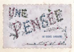Une PENSEE  De SIERCK    ( LORRAINE  )  Carte Pailletée - Autres Communes