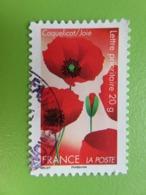 """Timbre France YT 672 AA - Flore - """"Dites-le Avec Des Fleurs"""" - Le Coquelicot Symbolise La Joie - 2012 - Cachet Rond - France"""