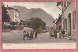 Airolo - Piazza Della Stazione - Kinder Mit Leiterwagen - 1904 - TI Tessin