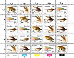 Transkei - 1984 Fishing Flies (5th Series) Sheet (**) # SG 133-137 , Mi 132-136 - Transkei