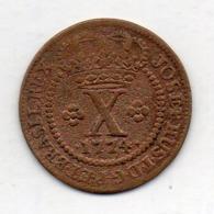 BRAZIL, 10 Reis, 1774, Copper, KM #174.2 - Brazil