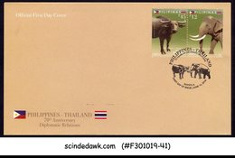 PHILIPPINES - 2019 DIPLOMATIC RELATIONS WITH THAILAND ELEPHANT BULL FDC - Filippine
